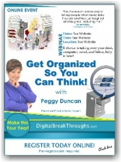 Get Organized Webinar with Peggy Duncan