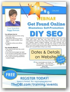 FREE Webinar - Shameless Self-Promotion DIY SEO with Peggy Duncan