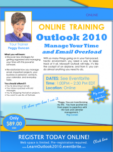 Outlook Webinar with Peggy Duncan